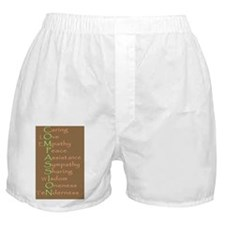2-compassion tile copy Boxer Shorts