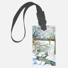 Winter Stream 14x10 Luggage Tag