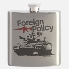 Foreign Policy - anti-war protest t-shirts Flask