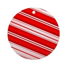 Peppermint Candy Cane Ornament (Round)