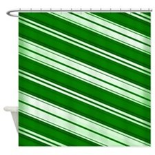 Spearmint Candy Cane Shower Curtain