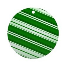 Spearmint Candy Cane Ornament (Round)