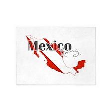 Mexico Diver 5'x7'Area Rug