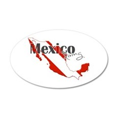 Mexico Diver Wall Decal