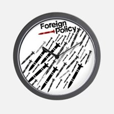 Foreign Policy - Bombs - anti-war shirt Wall Clock