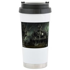 3-haunted_house_big Thermos Mug