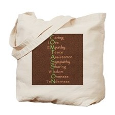 2-COMPASSION -pillow Tote Bag