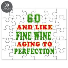 Funny 60 And Like Fine Wine Birthday Puzzle