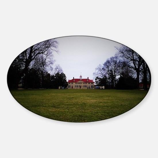 Unique Mount vernon Sticker (Oval)