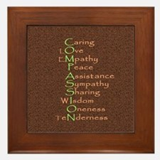 2-compassion tile Framed Tile