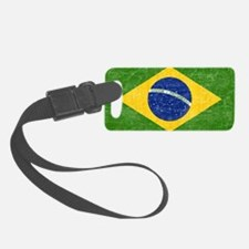 vintage-brazil-flag Luggage Tag