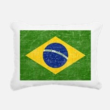 vintage-brazil-flag Rectangular Canvas Pillow