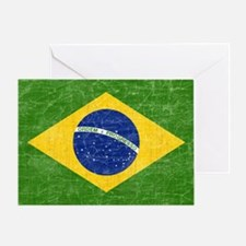 vintage-brazil-flag Greeting Card