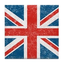 vintage-union-jack-big Tile Coaster