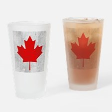 Vintage Canada Flag Drinking Glass