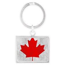 Vintage Canada Flag Landscape Keychain
