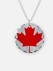 Vintage Canada Flag Necklace