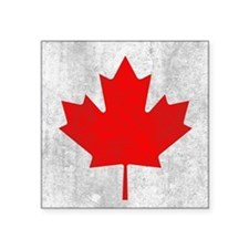 "Vintage Canada Flag Square Sticker 3"" x 3"""