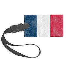 Vintage France Flag Luggage Tag
