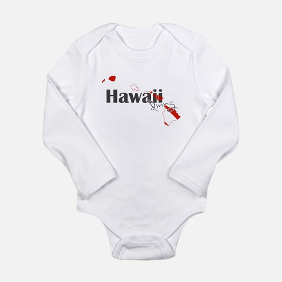Hawaii Diver Long Sleeve Infant Bodysuit