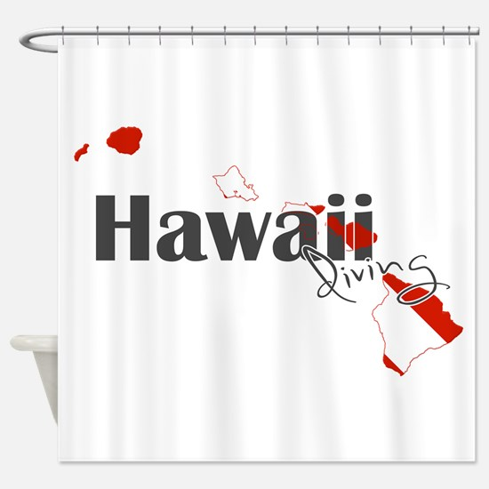 Hawaii Diver Shower Curtain