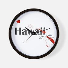 Hawaii Diver Wall Clock