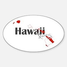 Hawaii Diver Sticker (Oval)