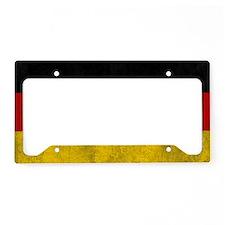 vintage-germany-flag License Plate Holder