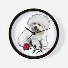 Shih Tzu Valentine Rose Wall Clock
