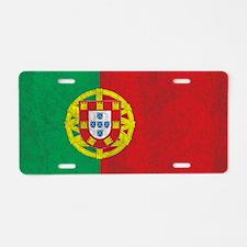 Vintage Portugal Flag Aluminum License Plate