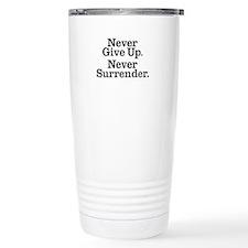 never_give_up_2 Travel Mug
