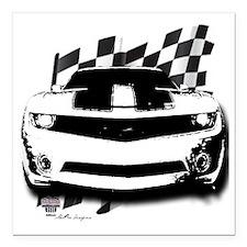 "2010camaroblack Square Car Magnet 3"" x 3"""