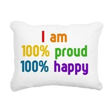 100% proud - 100% happy Rectangular Canvas Pillow