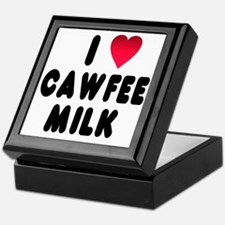 blk_luv_cawfee_milk Keepsake Box