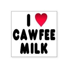 "blk_luv_cawfee_milk Square Sticker 3"" x 3"""