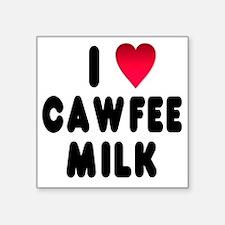 "blk_luv_cawfee_milk Square Sticker 3"" x 3"""