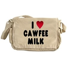 blk_luv_cawfee_milk Messenger Bag