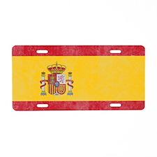 Vintage Spain Flag Aluminum License Plate