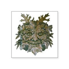 "Greenman Carving Square Sticker 3"" x 3"""