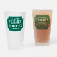 Friends With Benefits Drinking Glass