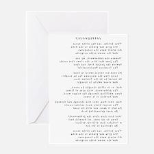 Jabberwocky - Curlz MT - Final - Fli Greeting Card