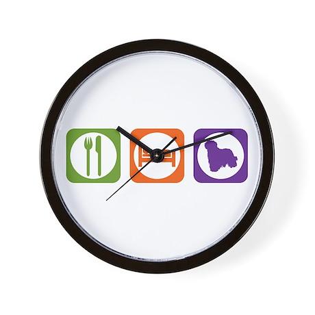 Eat Sleep Komondor Wall Clock