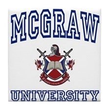 MCGRAW University Tile Coaster