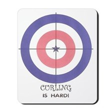 curling is hard Mousepad