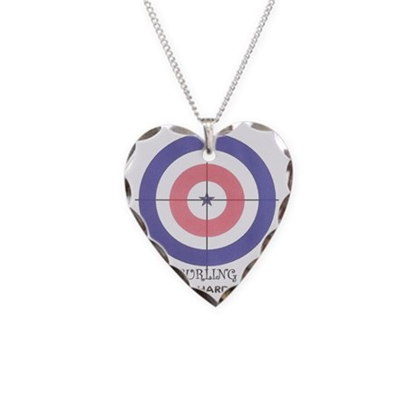 curling is hard Necklace Heart Charm