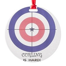 curling is hard Round Ornament