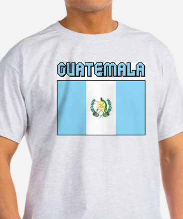 Guatemala Flag Ash Grey T-Shirt