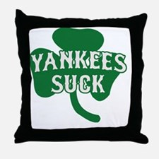 2-Yankees Suck St Patricks Day 2 Throw Pillow