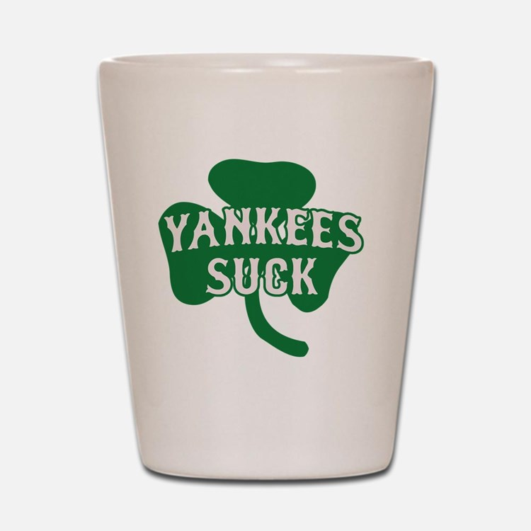 2-Yankees Suck St Patricks Day 2 Shot Glass