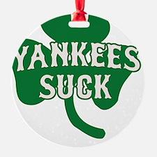 2-Yankees Suck St Patricks Day 2 Ornament